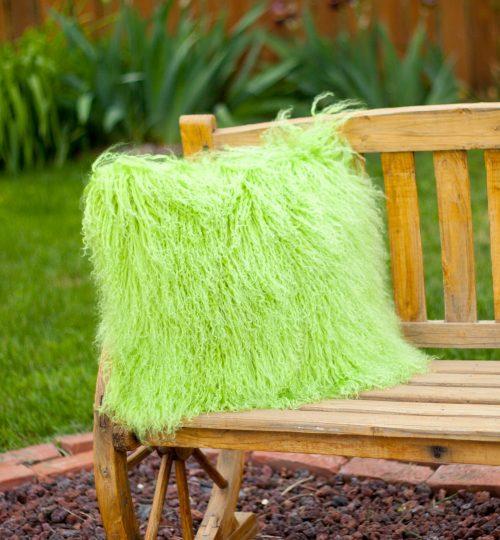 green pillow front