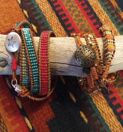 handmade-beaded-wrap-bracelets